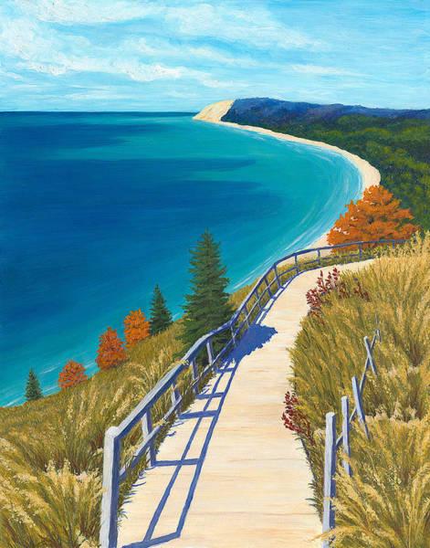Bluffs Painting - Empire Bluff Trail by Karin Petersen