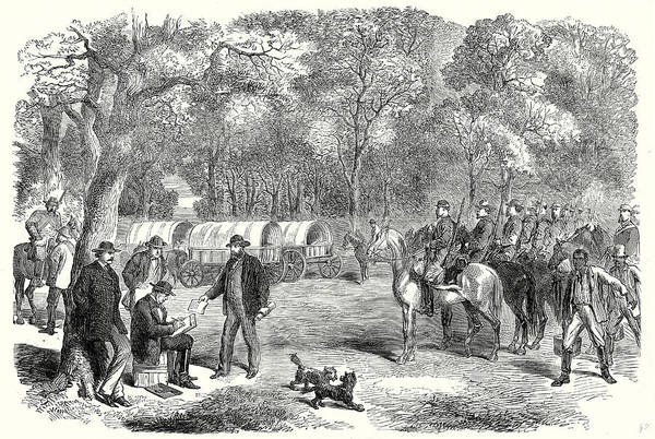 Confederate Soldier Drawing - End Of The American Civil War The Last Days by American School