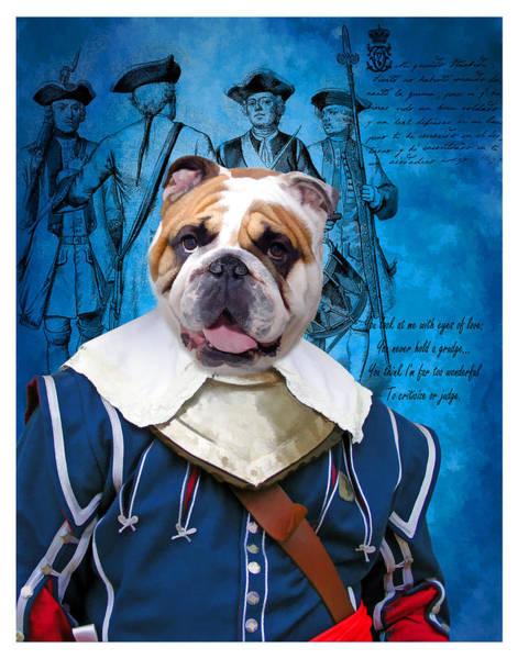 English Bulldog Painting - English Bulldog Art Canvas Print  by Sandra Sij