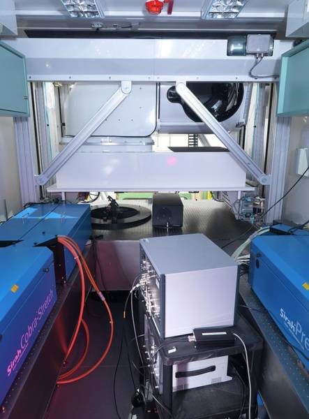 Laser Photograph - Environmental Remote Sensing System by Andrew Brookes, National Physical Laboratory