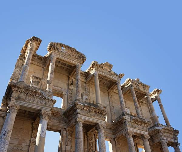 Virtue Photograph - Ephesus Library by David Parker