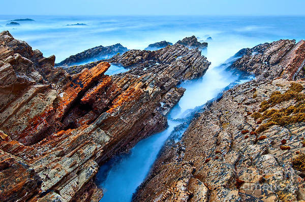 Montana De Oro State Park Photograph - Eternal Tides - The Strange Jagged Rocks And Cliffs Of Montana De Oro State Park In California by Jamie Pham