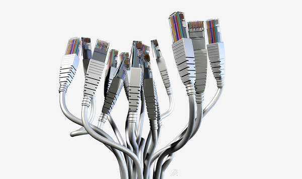 Ethernet Abstract Bouquet Art Print