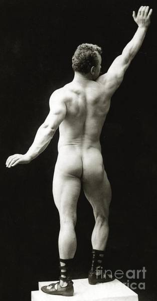 Physique Photograph - Eugen Sandow In Classical Ancient Greco Roman Pose by American Photographer