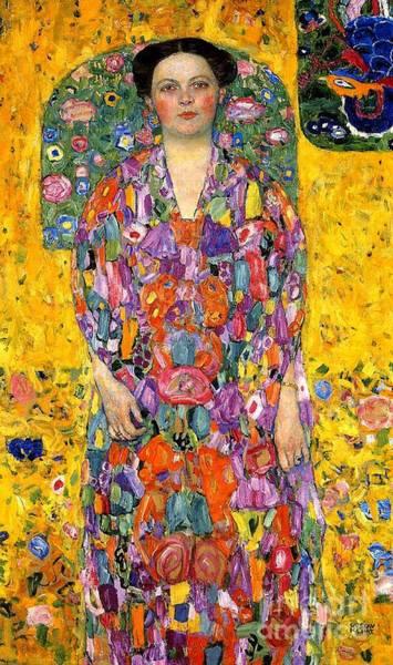 Rosy Wall Art - Painting - Eugenia Primavesi by Gustav Klimt