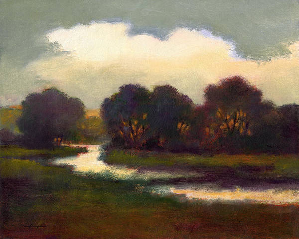 Painting - Evening Glow by J Reifsnyder