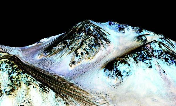 Wall Art - Photograph - Evidence Of Water On Mars by Nasa/jpl-caltech/univ. Of Arizona