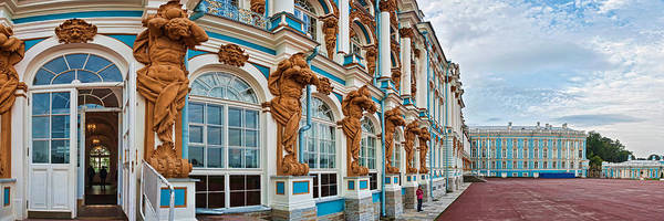 Facade Of Catherine Palace, Tsarskoye Art Print
