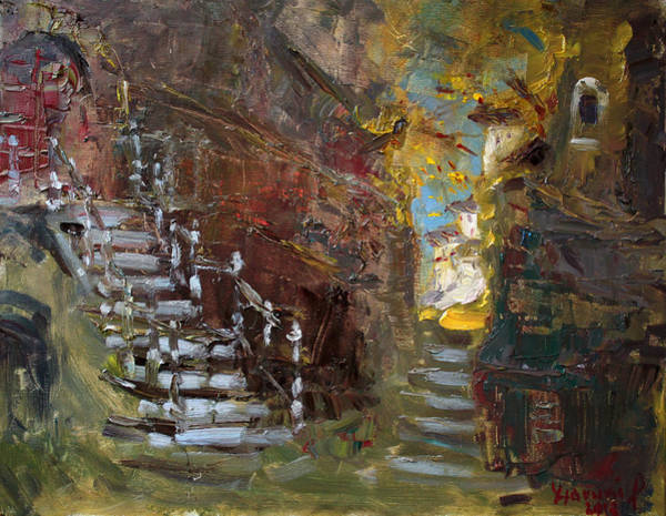 Wall Art - Painting - Fall In Albanian Village  by Ylli Haruni