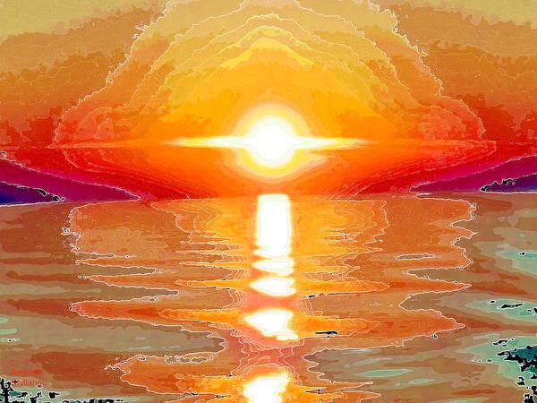 Digital Art - Fantastic Sunset by Augusta Stylianou