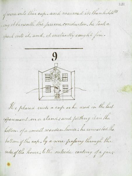 Photograph - Faraday's Notes On Tatum's Lectures by Royal Institution Of Great Britain