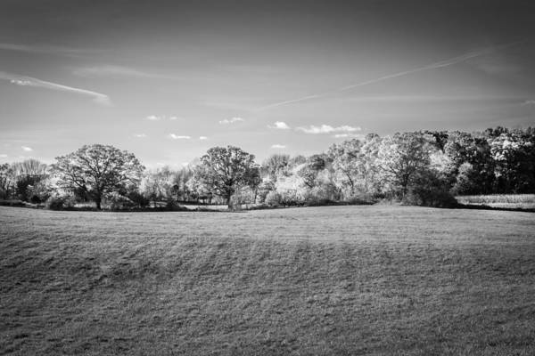 Photograph - Farm Land Sussex County Western New Jersey Painted Bw  by Rich Franco