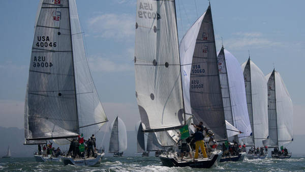 Photograph - Farr 40s Downwind by Steven Lapkin