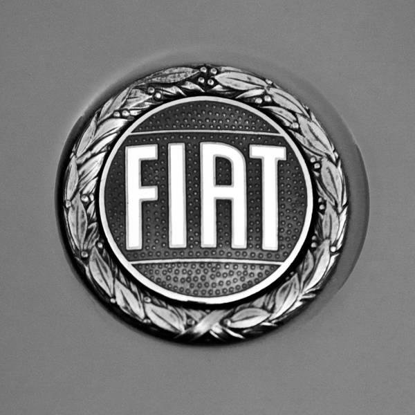 Photograph - Fiat Emblem by Jill Reger