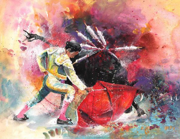 Painting - Final Throews by Miki De Goodaboom
