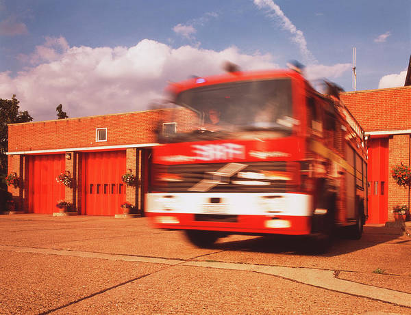 Fire Station Photograph - Fire Engine by Simon Lewis/science Photo Library