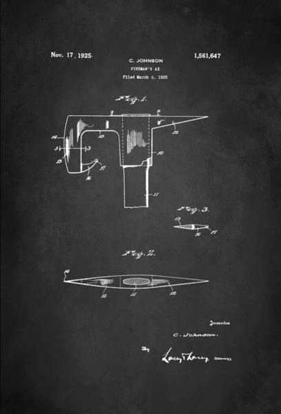 Axe Wall Art - Digital Art - Firefighter's Axe Patent 1925 by Patricia Lintner