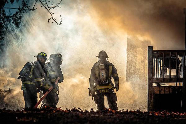Phoenix Photograph - Firefighters by Everet Regal