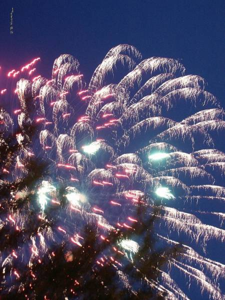 Photograph - Fireworks At St. Albans Bay by R B Harper