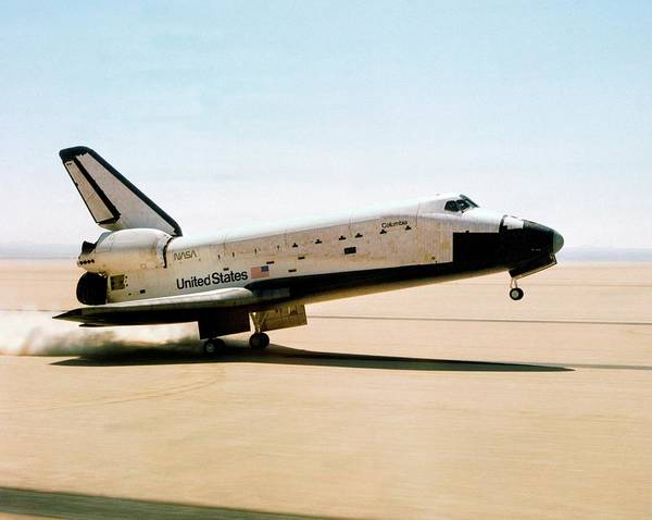 1981 Photograph - First Space Shuttle Flight by Nasa/science Photo Library