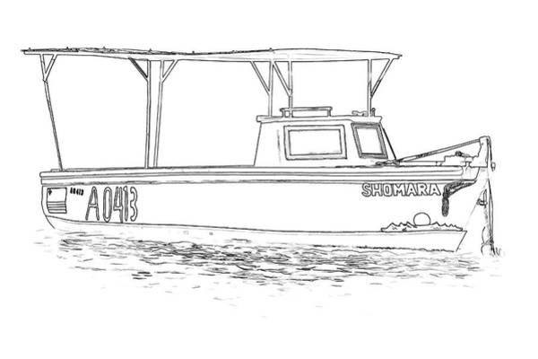 Sketch Holiday Photograph - Fishing Boat Of The Caribbean  by David Letts