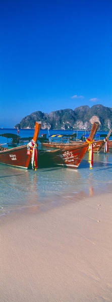Fishing Boats In The Sea, Phi Phi Art Print