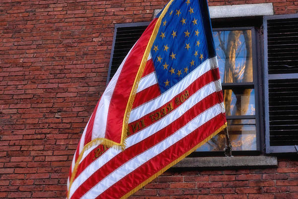 Photograph - Flag On Acorn Street by Joann Vitali