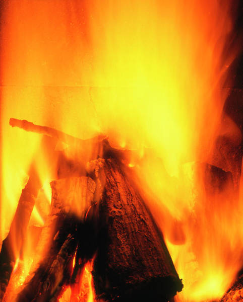 Wall Art - Photograph - Flames From A Domestic Log Fire by Adam Hart-davis/science Photo Library