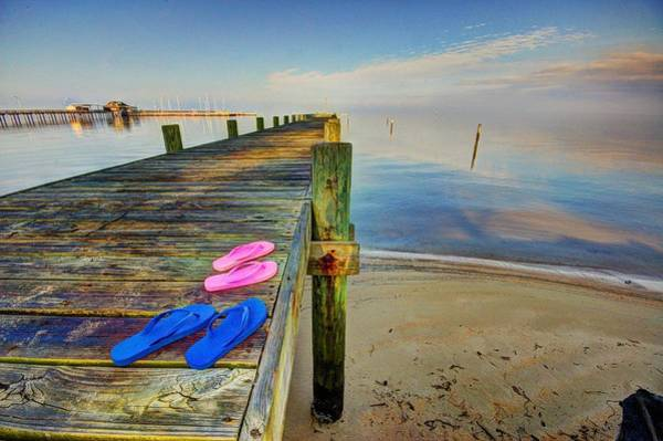 Photograph - Flip Flops On The Dock by Michael Thomas