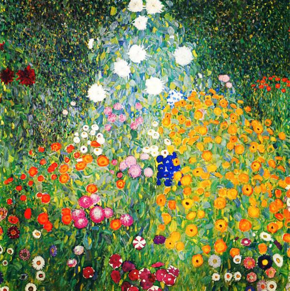 Wall Art - Painting - Flower Garden by Gustav Klimt