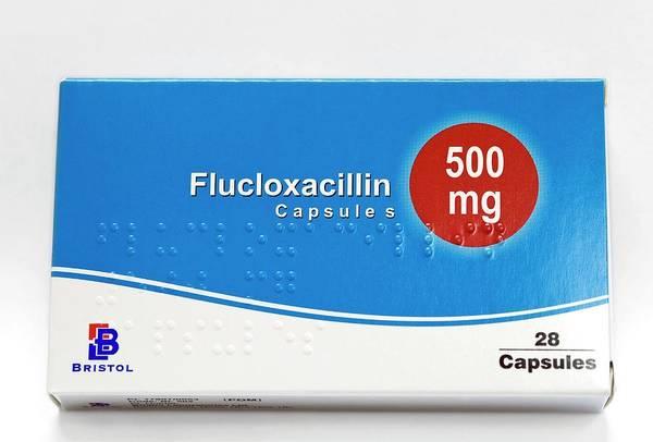 Wall Art - Photograph - Flucloxacillin Antibiotic Drug by Dr P. Marazzi/science Photo Library