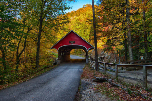 Photograph - Flume Gorge Covered Bridge by Jeff Folger