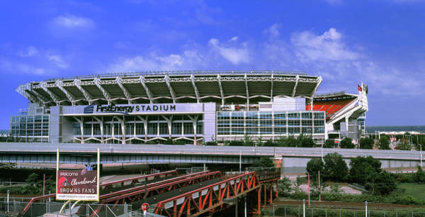 Cleveland Scene Photograph - Football Stadium In A City, Firstenergy by Panoramic Images