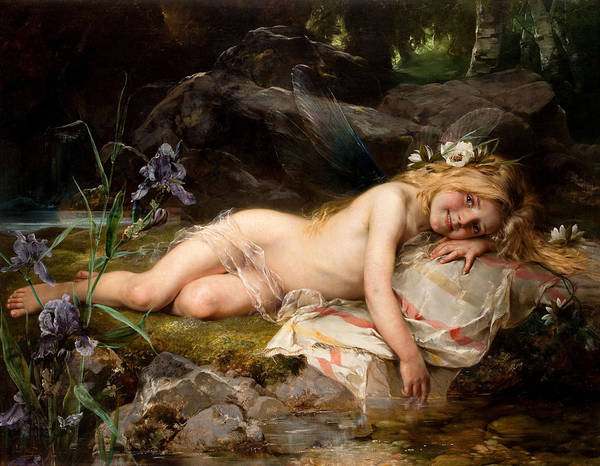 Beauty Wall Art - Painting - Forest Nymph by Paul Hermann Wagner