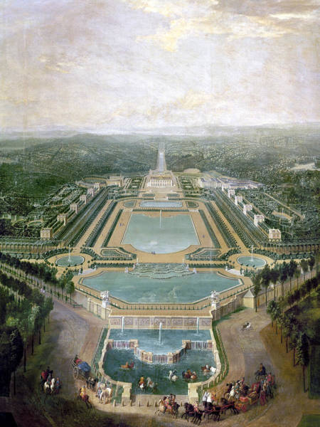Wall Art - Painting - France Chateau De Marly by Granger