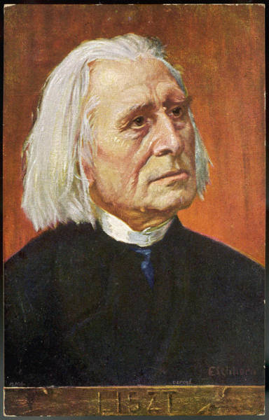 Wall Art - Drawing - Franz Liszt  Hungarian Musician by Mary Evans Picture Library