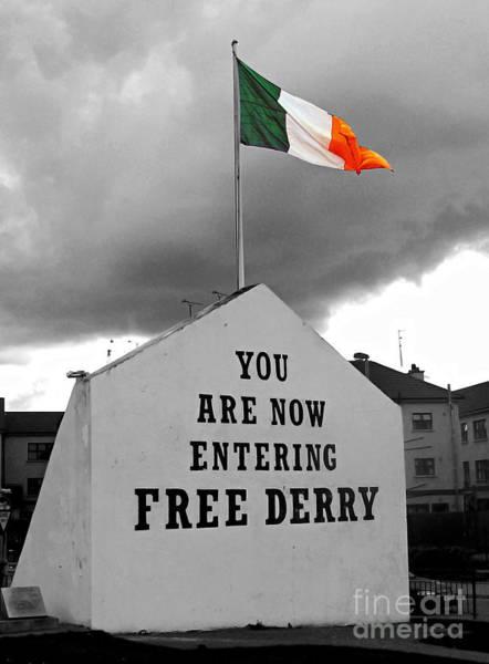 Republican Photograph - Free Derry Wall 1 by Nina Ficur Feenan