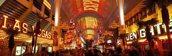 Wall Art - Photograph - Fremont Street Experience Las Vegas Nv by Panoramic Images