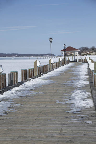 Photograph - Frozen Northport Dock by Susan Jensen