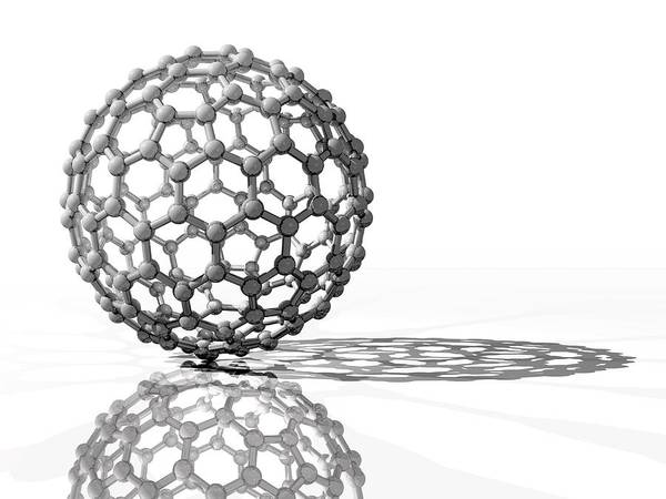 Wall Art - Photograph - Fullerene Molecule by Laguna Design