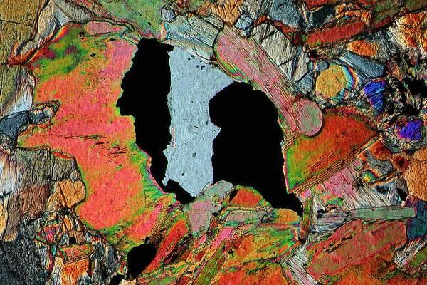 Magma Wall Art - Photograph - Gabbro Microcrystals by Antonio Romero