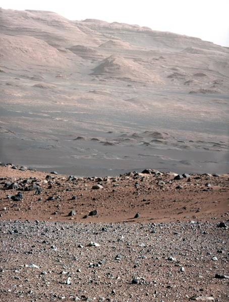 Wall Art - Photograph - Gale Crater Landscape, Mars by Science Photo Library