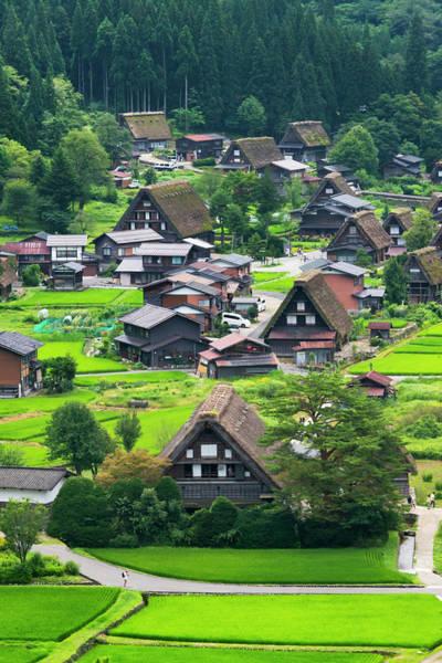 Wall Art - Photograph - Gassho-zukuri Houses And Farmland by Keren Su