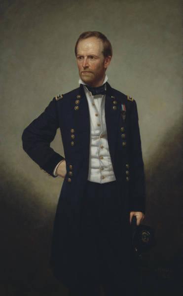 Civil War Generals Painting - General William Tecumseh Sherman by War Is Hell Store