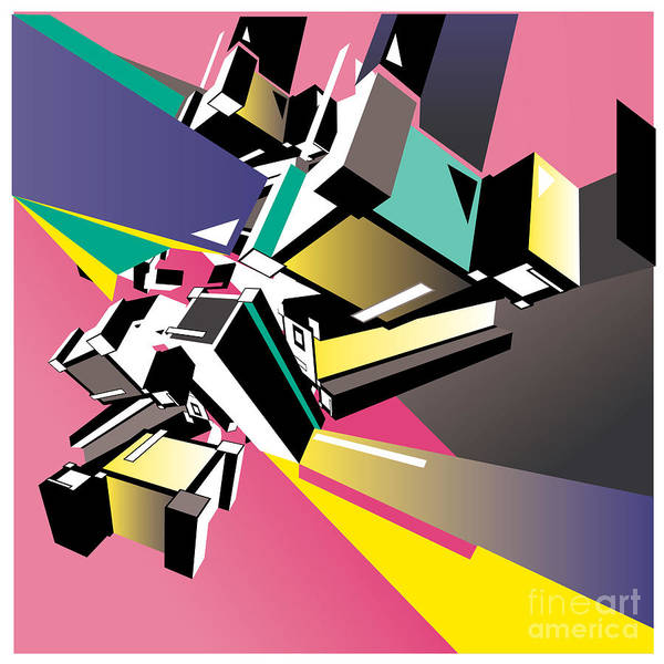 Triangle Digital Art - Geometric Colorful Design Abstract by Singpentinkhappy