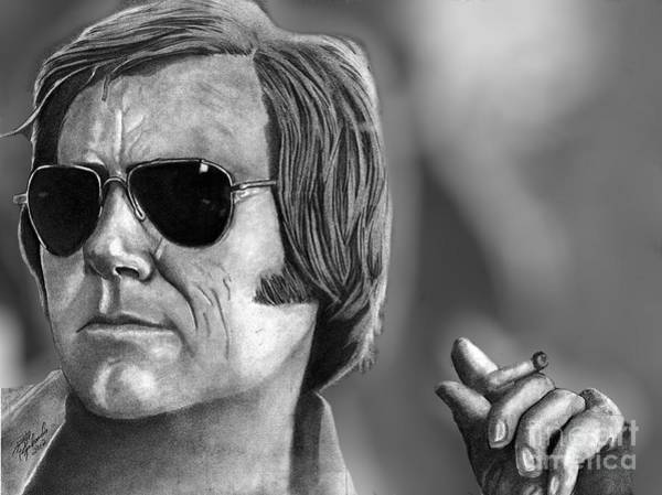 Drawing - George Jones by Bill Richards