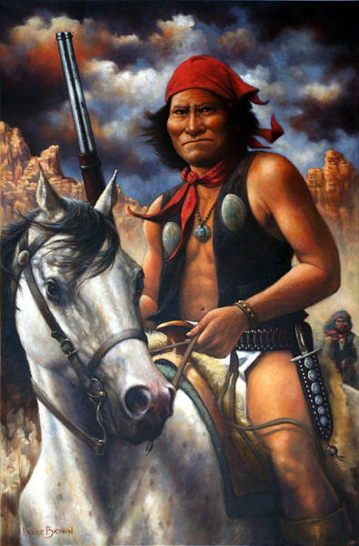 Wall Art - Painting - Geronimo by Harvie Brown