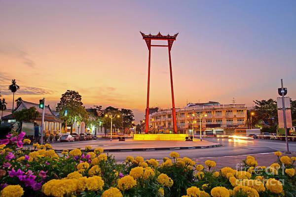 Wat Suthat Photograph - Giant Swing In Bangkok Thailand by Fototrav Print