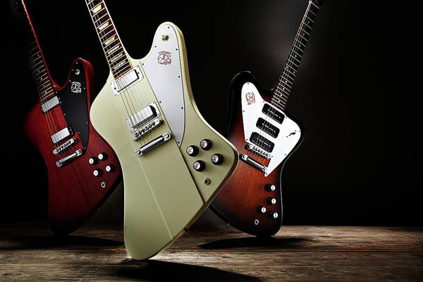 Publication Photograph - Gibson Firebird Electric Guitars by Guitarist Magazine