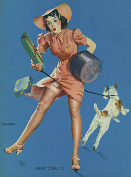 Leash Wall Art - Photograph - Gil Elvgren's Pin-up Girl by Underwood Archives
